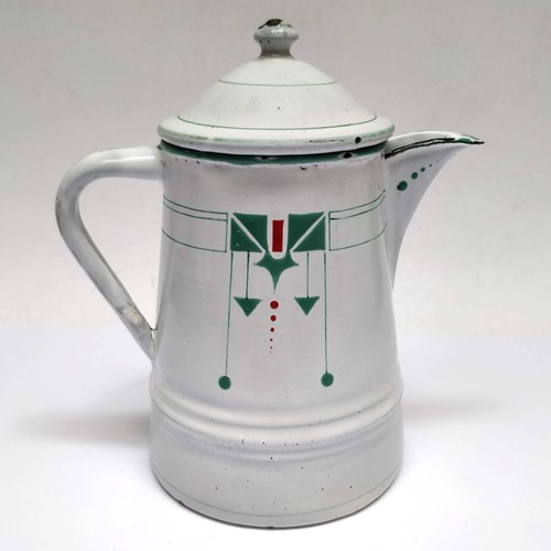 Art Deco Enamel Coffee Pot