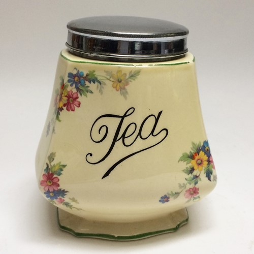 Pretty 1930's Tea Caddy
