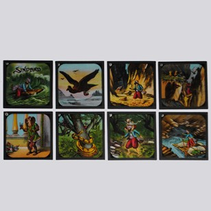 Sinbad the sailor coloured lantern slides