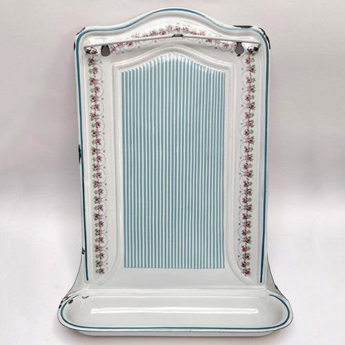 Enamel rack, striped with rose garland decoration