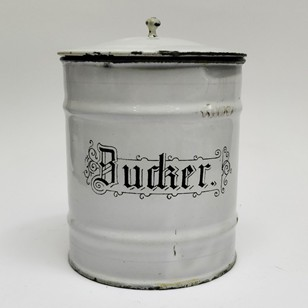 German 'Zucker' Enamel Container