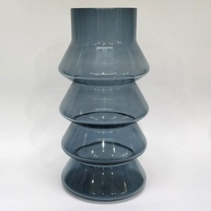 Huge Whitefriars Smokey Blue Glass Vase