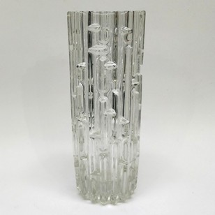 very heavy 1960's glass vase