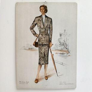 Mid 20th century tailoring illustrations