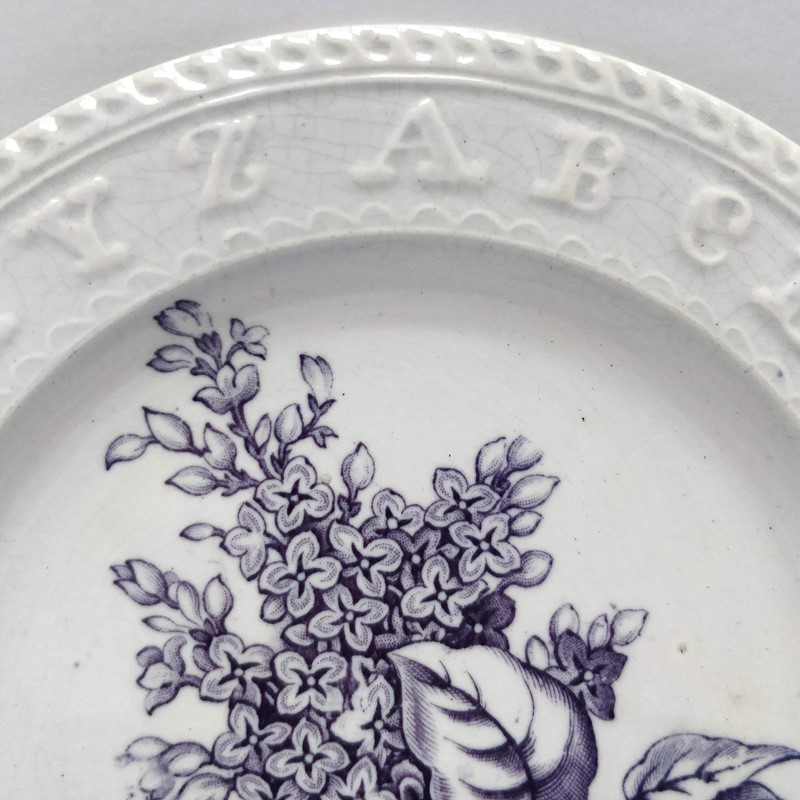 19thC childrens teaching plate with Lilac sprig-general-store-no-2-5-main-637012103345834816.jpg