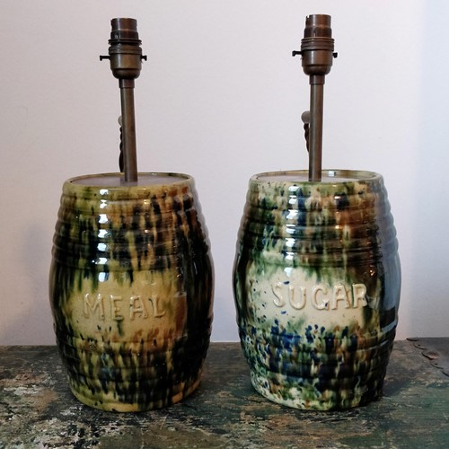 Scottish meal jar table lamp