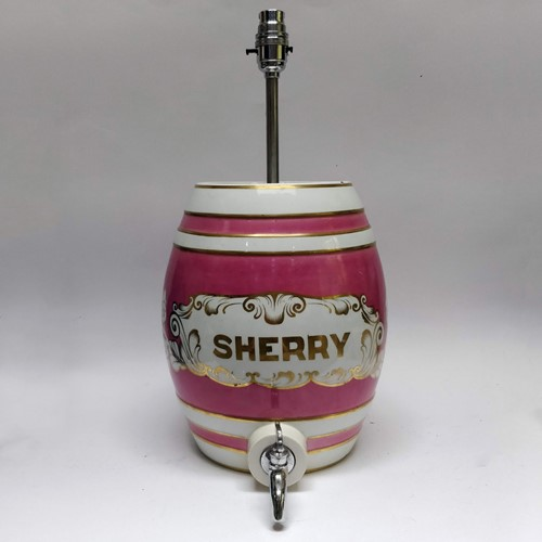 Sherry barrel lamp