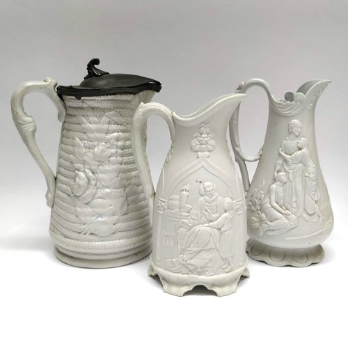 19th Century Salt Glazed Stoneware jugs