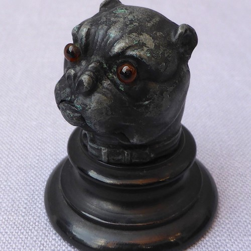 Unusual Victorian Pug Dog Thimble Holder