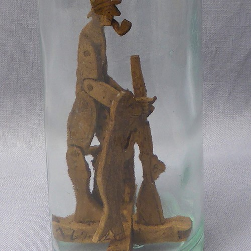Unusual French folk art bottle whimsey