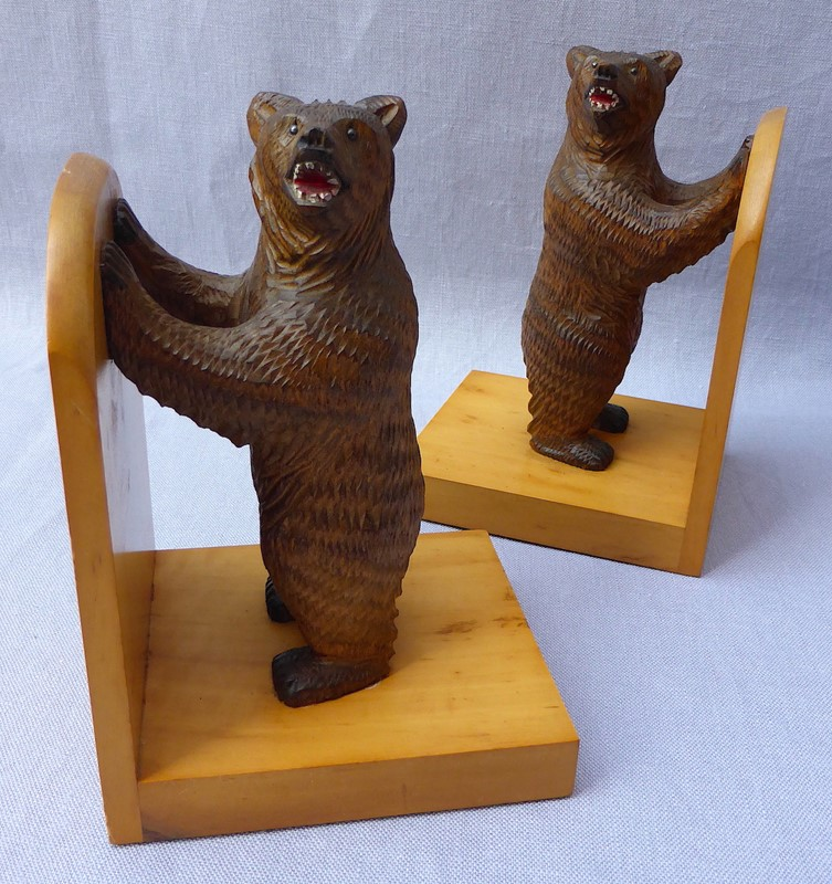 Pair of mid 20thC Black Forest bear bookends-ginger-tom-s-curious-eclectic-ce179a-hoarde-main-637007031645704344.JPG