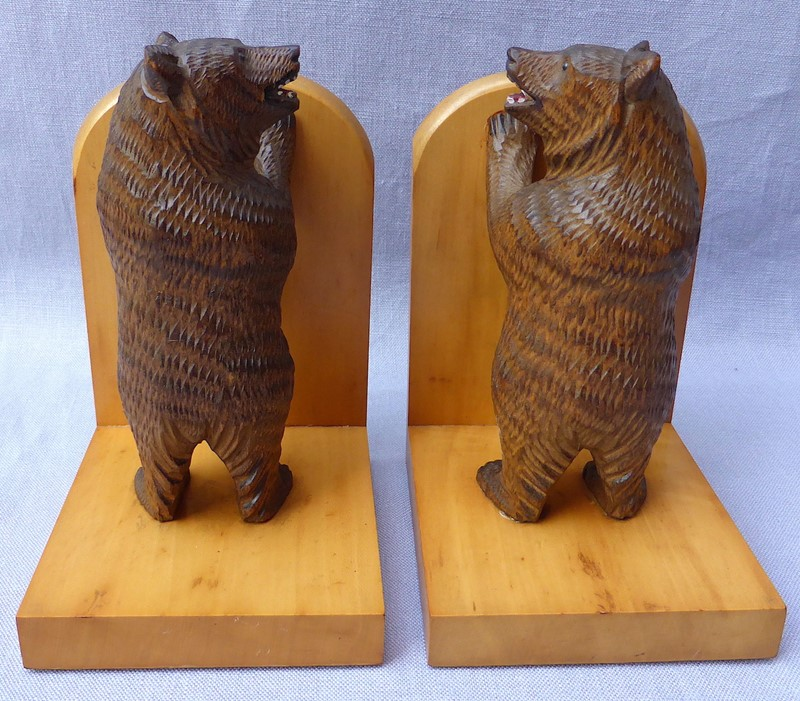 Pair of mid 20thC Black Forest bear bookends-ginger-tom-s-curious-eclectic-ce179g-hoarde-main-637007031989452105.JPG