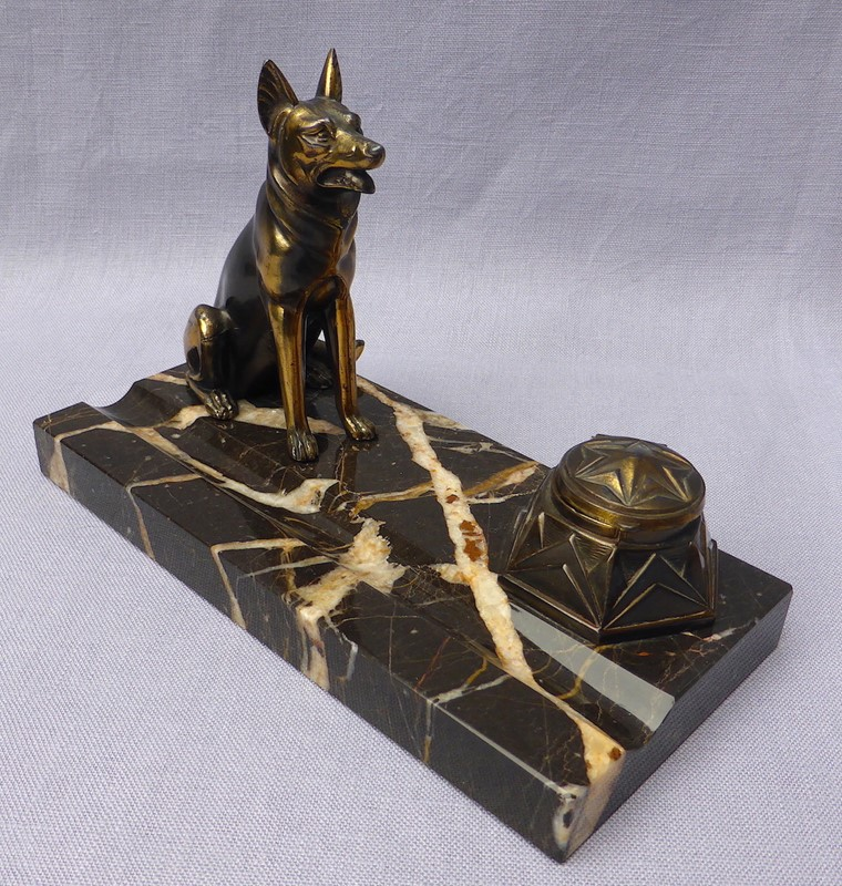 Art Deco French Alsatian ink stand-ginger-tom-s-curious-eclectic-ce289a-hoarde-main-637021688526061671.JPG