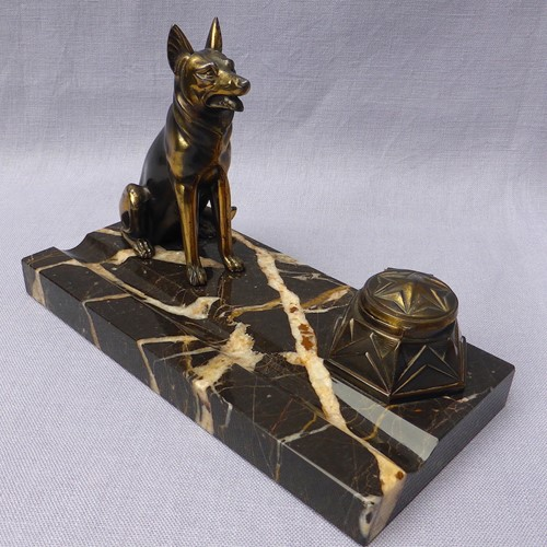 Art Deco French Alsatian ink stand