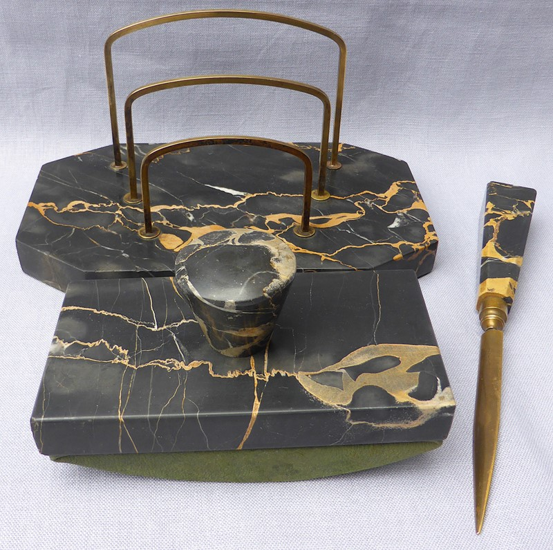 Art Deco Portoro marble desk set-ginger-tom-s-curious-eclectic-ce383d-hoarde-main-637066580636970843.JPG