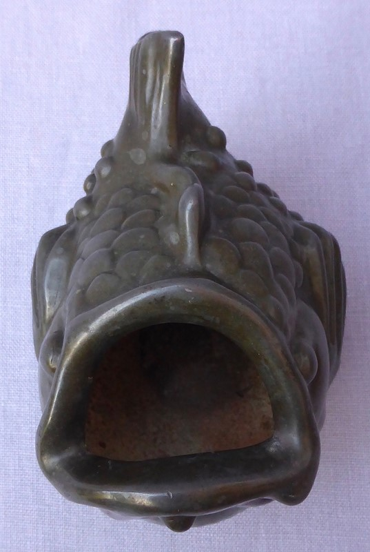 1930s Just Andersen Patinated Metal Fish Vessel-ginger-tom-s-curious-eclectic-ce394j-hoarde-main-636906792623460215.JPG