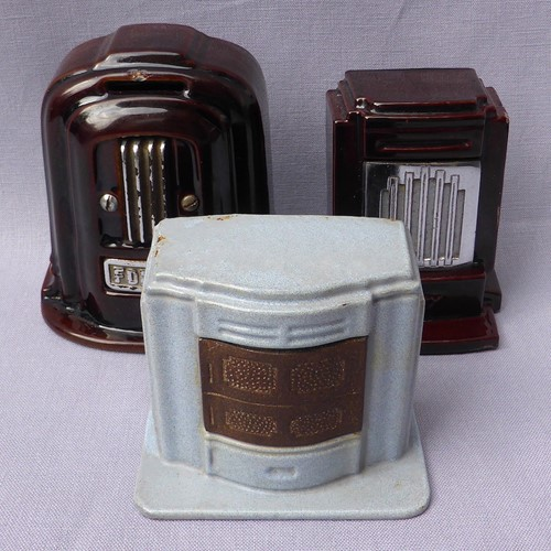 Trio of miniature stove moneyboxes