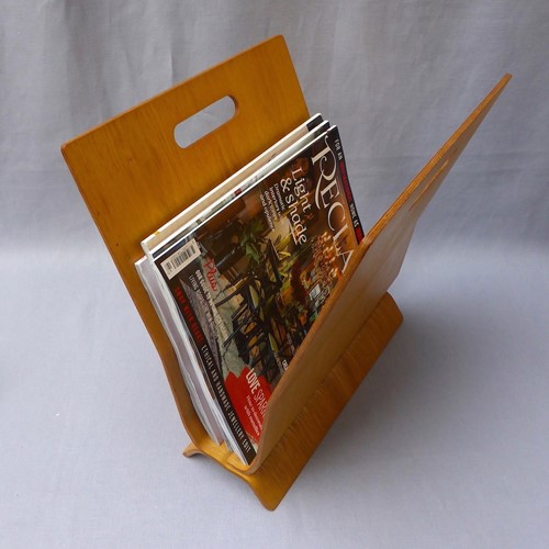 1960s Laminated Bentwood Danish Magazine Rack