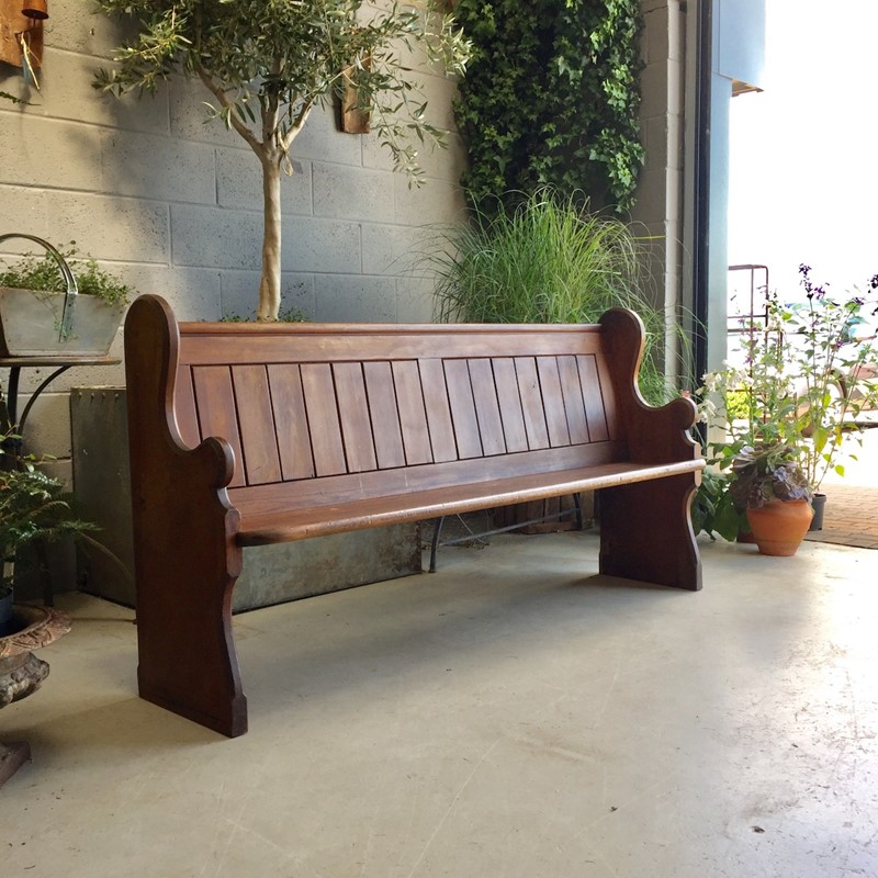 Vintage Church Pew in a beautiful brown Walnut col-goose-shed-3000-21-main-636983640375570321.jpeg