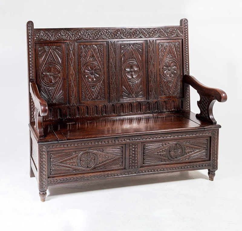 Aesthetic Carved Oak Box Settle-greencore-design-antique-carved-oak-box-settle-5-main-637368935699387499.jpg