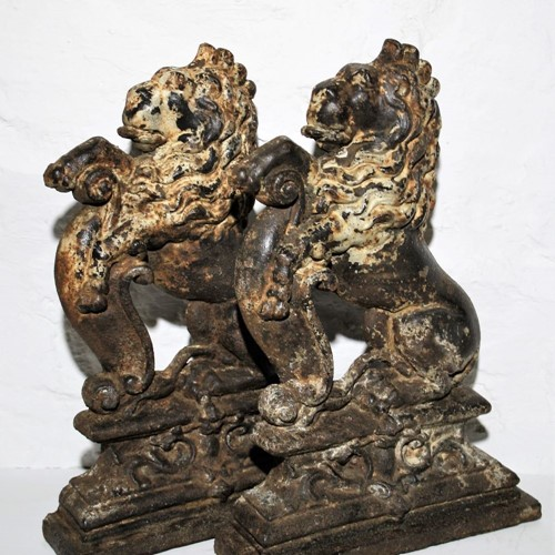 Cast iron door porters – pair