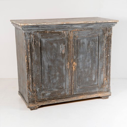 Swedish 19th century painted pine cupboard storage