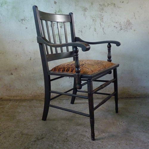 Wide seated victorian country chair