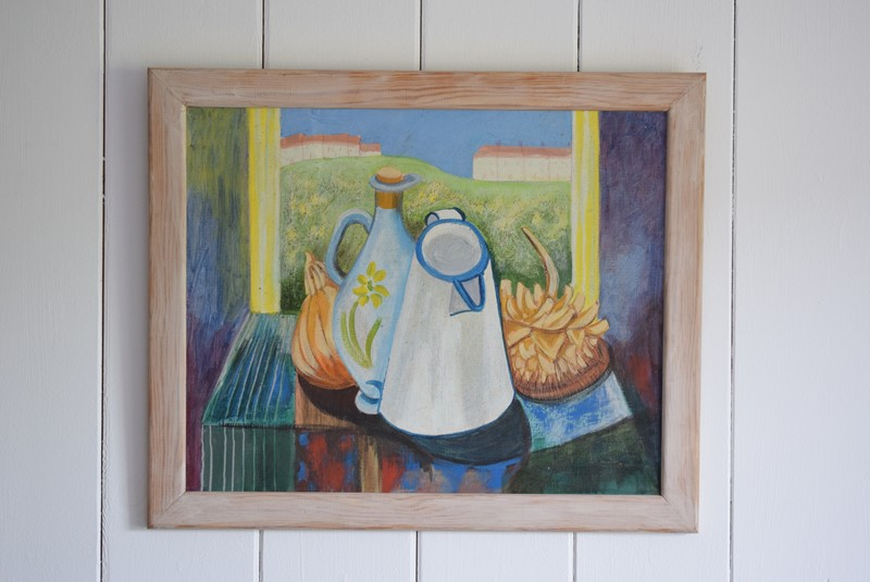 20th Century Still Life Oil on Board Enamel Jug-grumbla-lane-dsc-1715-main-637356729749847929.jpeg
