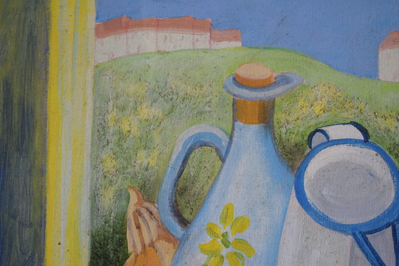 20th Century Still Life Oil on Board Enamel Jug-grumbla-lane-dsc-1719-main-637356730272033548.jpeg