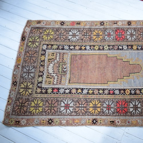 Antique Turkish Melas Prayer Rug