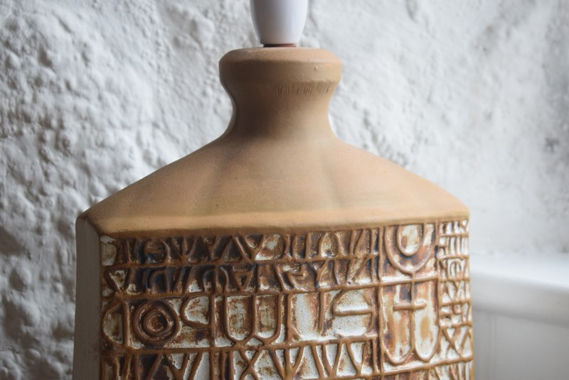 Large Tremaen Pottery Hieroglyphic Table Lamp Base-grumbla-lane-dsc-9354-main-637186864852673648.jpeg