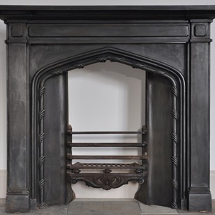 William IV cast iron gothic fireplace