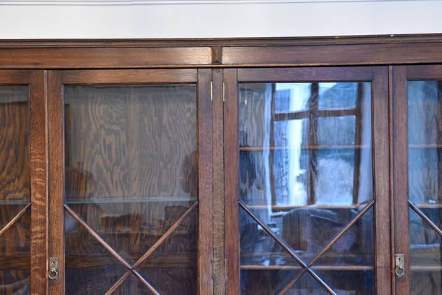 18 FOOT WIDE OAK DISPLAY CABINET-haes-antiques-18 FT WIDE HOS CABINET (1) FM_main_636459482140293330.JPG