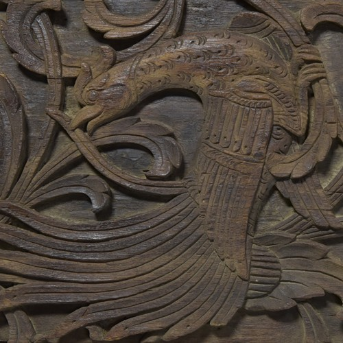 Malaysian Relief Carved Antique Ceiling