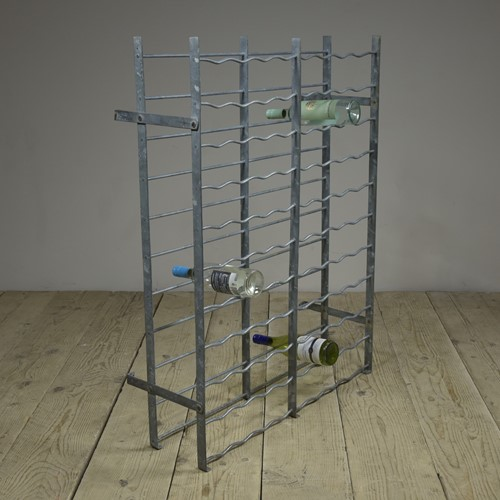 Galvanized wine rack c1900