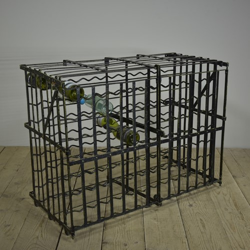 Antique Wrought Iron Wine Rack