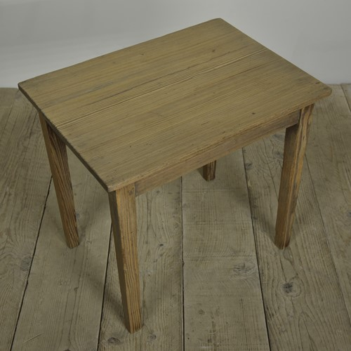 Antique textured pine occasional table