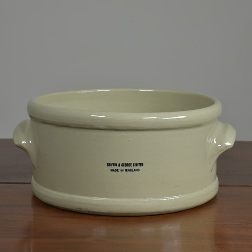 Ceramic laboratory trough / bowl