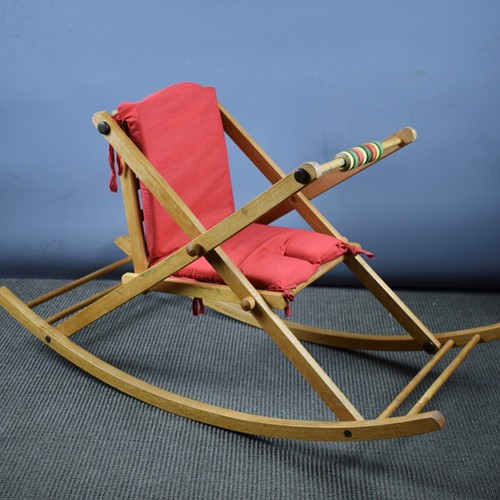 Vintage 1960's Baby's Rocking Chair