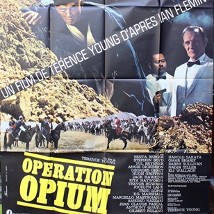 Large 1960's French Film Poster 'Operation Opium'