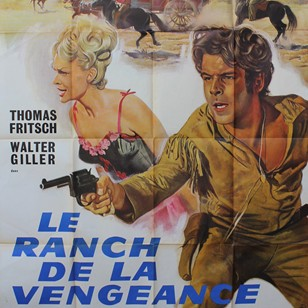 Large French Film Poster Le Ranch De La Vengeance