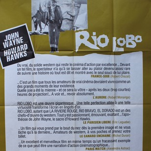 Large French Cinema Poster for 'Rio Lobo'
