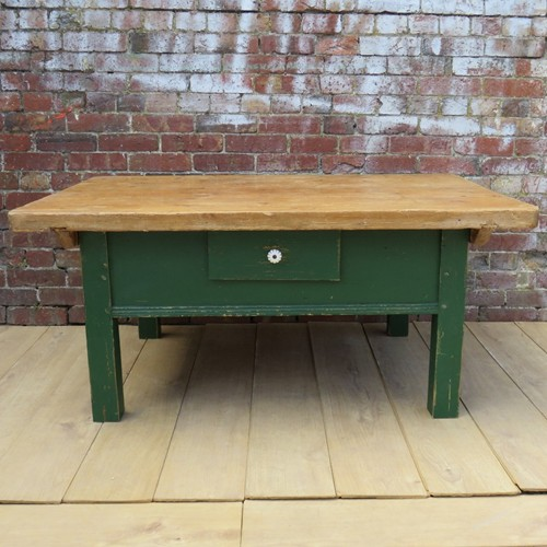 Antique Coffee Table In Original Paint