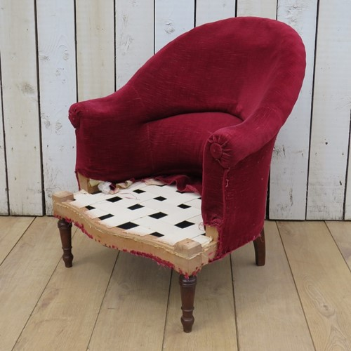 1920's Napoleon III Chair For Re-upholstery