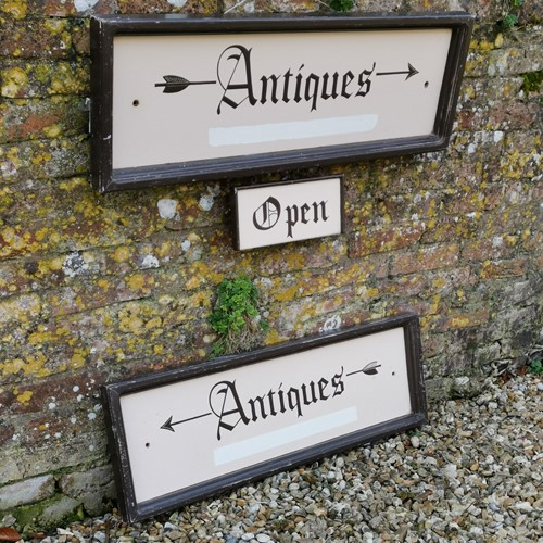 Antiques Hand Painted Signs