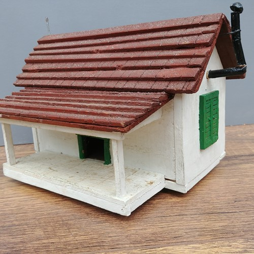 Vintage scratch built bird box