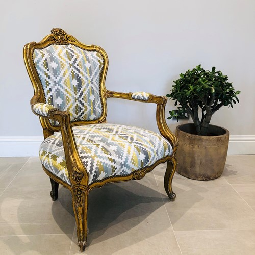 Gilt French Armchair