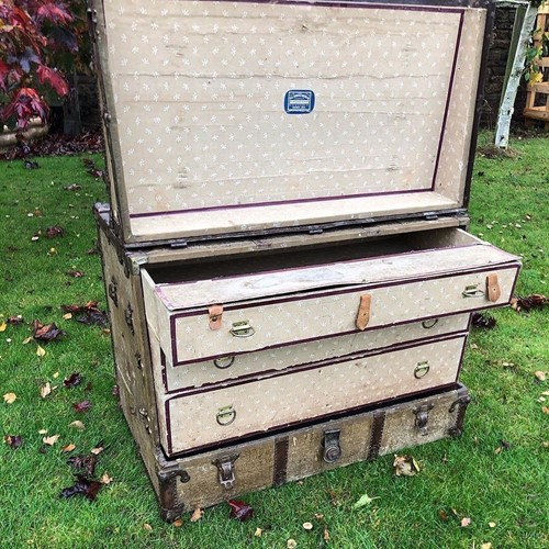 Vintage Canadian Steamer Trunk / Chest