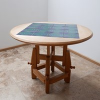 French, mid-century adjustable to dining table
