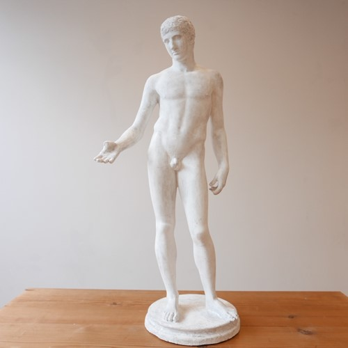 Midcentury French Plaster Statue